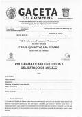 programa de productividad del estado de méxico - Gobierno del
