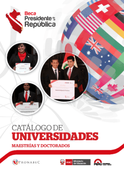 UNIVERSIDADES - Programa Nacional de Becas y Crédito Educativo