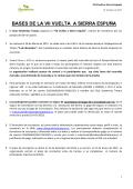 BASES DE LA VII VUELTA A SIERRA ESPUÑA - Club Senderista