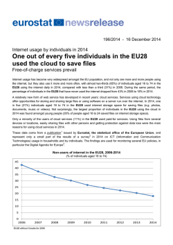 One out of every five individuals in the EU28 used the - Europa