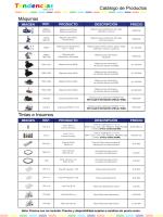 Catálogo de Productos Máquinas Tintas e Insumos - Tendencias GyG