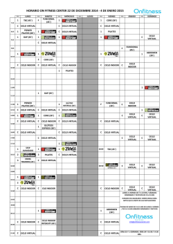 Descárgate nuestro horario - On Fitness Center