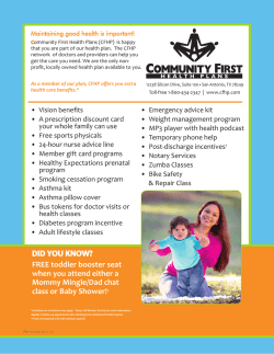 DID YOU KNOW? - Community First Health Plans.