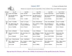 January 2015 - Ss Gregory &amp