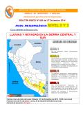 LLUVIAS Y NEVADAS EN LA SIERRA CENTRAL Y SUR - Indeci