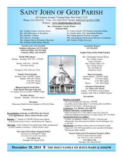 Weekly Bulletin - St. John of God Parish