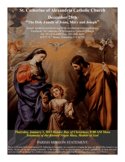 December 28th 2014 - St. Catherine of Alexandria Temecula