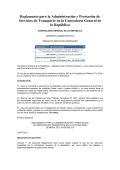 Reglamento Transporte - Contraloría General de la República