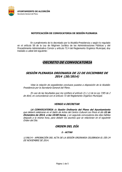 not. decreto convocatoria pleno ordinario 22 - PSOE Alcorcón