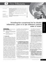 I Actualización excepcional de las deudas tributarias - Revista
