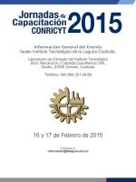 16 y 17 de Febrero de 2015 - Jornadas de Capacitación 2015