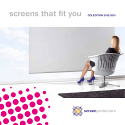 screens that fit you COLECCIÓN 2012-2015