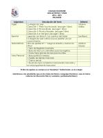 Lista de textos y útiles