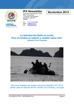 IPA Newsletter Noviembre 2014 - International Police Association