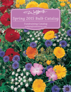 Spring 2015 Bulb Catalog - Wolfgang Candy Fundraising