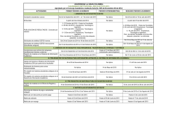 Calendario Académico 2015 - Universidad La Gran Colombia