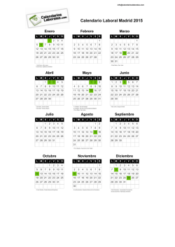 Calendario Laboral Madrid 2015 PDF