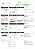 2014 – 2015 Calendario Escolar - Oakland Unified School District