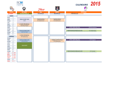 CALENDARIO 2015 - Real Club Mediterráneo