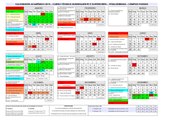 Calendario 2015 - PASSOS Subsequente e Superior
