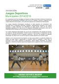 Juegos Deportivos Municipales 2014/2015