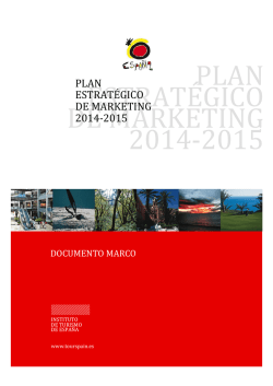 PLAN ESTRATÉGICO DE MARKETING 2014-2015