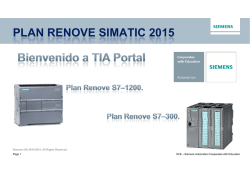SCE - Plan Renove SIMATIC 2015
