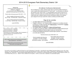 2014-2015 Evergreen Park Elementary District 124