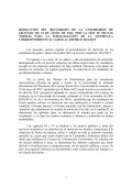 Resolución del Rectorado de la Universidad de Granada de 10 de