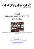 MENUS PARA EVENTOS 2014-2015