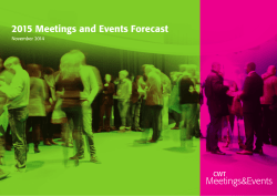 2015 Meetings and Events Forecast - Careers