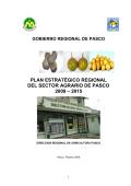 plan estratégico regional del sector agrario de pasco 2009 – 2015
