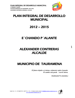 plan integral de desarrollo municipal 2012 – 2015 e