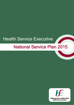 National Service Plan 2015 Health Service Executive