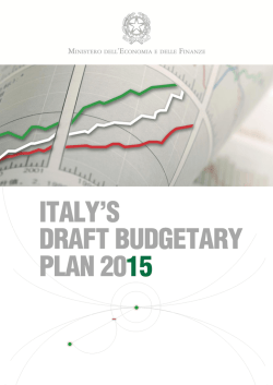 DRAFT BUDGETARY PLAN 2015