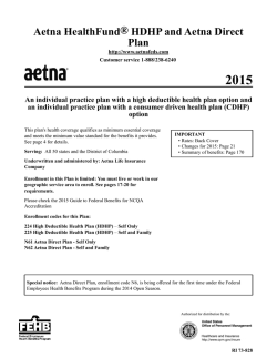 Aetna HealthFund® HDHP and Aetna Direct Plan