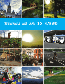 SUSTAINABLE SALT LAKE PLAN 2015 PLAN 2015