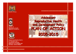 plan of action 2005–2015 plan of action 2005–2015
