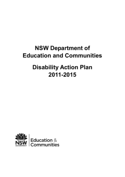 Disability Action Plan 2011-2015