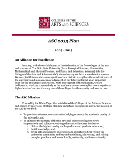 ASC--2015 Plan - College of Arts and Sciences