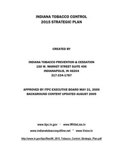 indiana tobacco control 2015 strategic plan