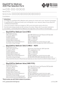 BlueCHiP for Medicare 2015 Plan Selection Form