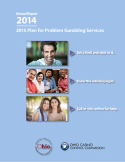 2015 Plan for Problem Gambling Services