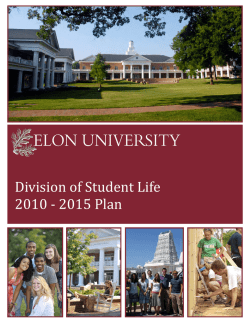 Student Life Five Year Plan, 2010-2015