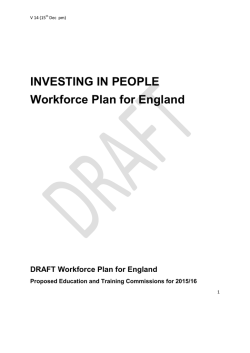 Workforce Plan - Health Education England