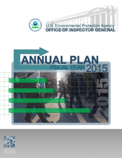 2015 Annual Plan - Environmental Protection Agency