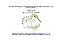 2015 Plan of Work - Capital Area Resource Conservation