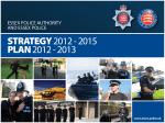 STRATEGY 2012 - 2015 PLAN 2012 - 2013