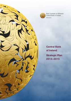 Central Bank of Ireland Strategic Plan 2013–2015