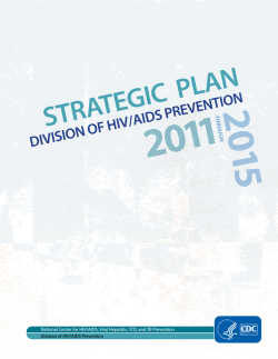 Strategic plan: Division of HIV/AIDS Prevention, 2011–2015.